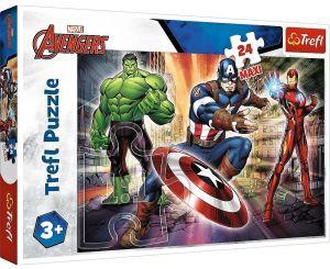 Trefl Puzzle Maxi 24 dílků - Ve světě Avengers  14321