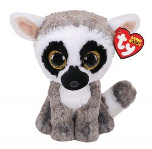 TY Beanie Boos -  Linus - šedý lemur  36472  - 24 cm plyšák