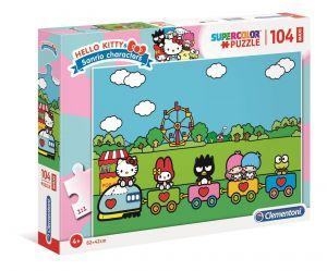 Clementoni puzzle 104 dílků MAXI - Hello Kitty  23742