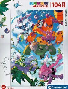 Clementoni puzzle 104 dílků MAXI - Super Friends   23754