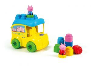 Clemmy baby Peppa Pig školní autobus