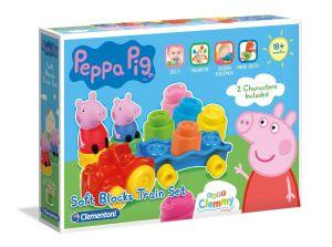 Clemmy baby Peppa Pig vláček s kostkami