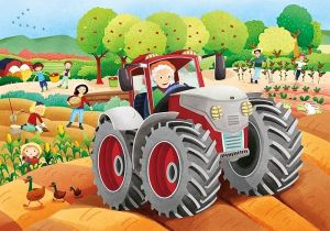 Deskové puzzle Clementoni - 15 dílků - Na farmě 22233a
