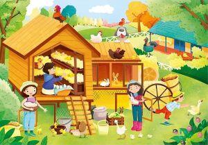 Deskové puzzle Clementoni - 15 dílků - Na farmě 22233b