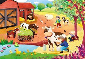 Deskové puzzle Clementoni - 15 dílků - Na farmě 22233d