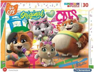 Deskové puzzle Clementoni - 30 dílků - 44 koček  22701b