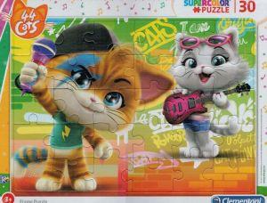Deskové puzzle Clementoni - 30 dílků - 44 koček  22701c