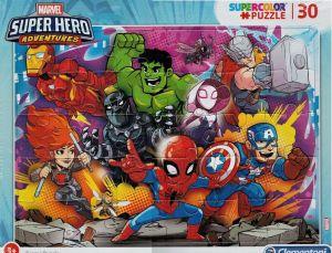 Deskové puzzle Clementoni - 30 dílků - SuperHero  22703c