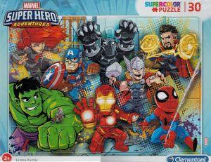 Deskové puzzle Clementoni - 30 dílků - SuperHero  22703d