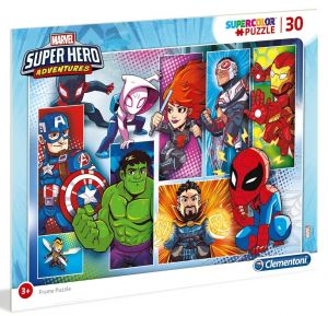 Deskové puzzle Clementoni - 30 dílků - SuperHero  22703a