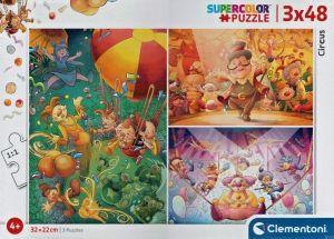 Dětské puzzle Clementoni  - 3 x 48 dílků  -  Cirkus 25264