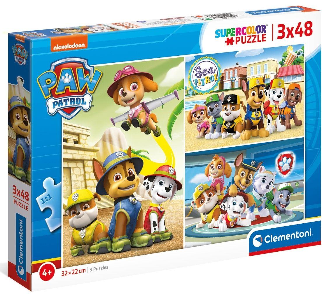 Dětské puzzle Clementoni - 3 x 48 dílků - Paw Patrol - Tlapková patrola 25262