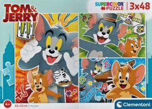 Dětské puzzle Clementoni  - 3 x 48 dílků  - Tom & Jerry 25265