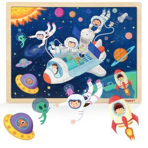 Dřěvěné puzzle Brimarex - Top Bright 48 dílků  - kosmos   40 x 30 cm