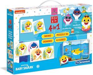 EDUKIT - hry Clementoni  -  4v1  Baby Shark