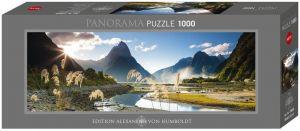 Heye - puzzle 1000 dílků panorama  VON Humboldt - Milford Sound  - Nový Zéland 29606