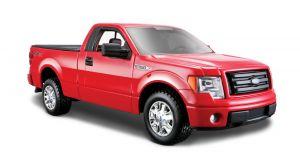 Maisto  1:27  Ford F-150 STX 2010  -  červená  barva