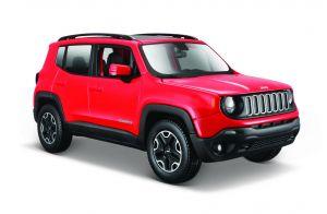 Maisto  1:24 Jeep Renegade  -  červená  barva