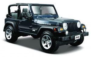 Maisto  1:27  Jeep Wrangler Rubicon - tm.modrá  barva