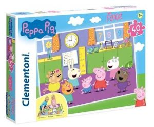 Podlahové puzzle Clementoni 40  dílků MEGA  - Prasátko Peppa 25458