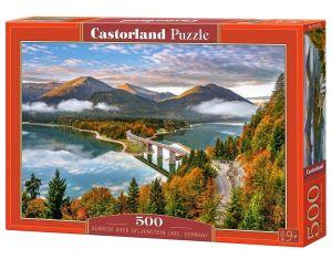 Puzzle Castorland 500 dílků - Jezero  Sylvenstein - Německo  53353
