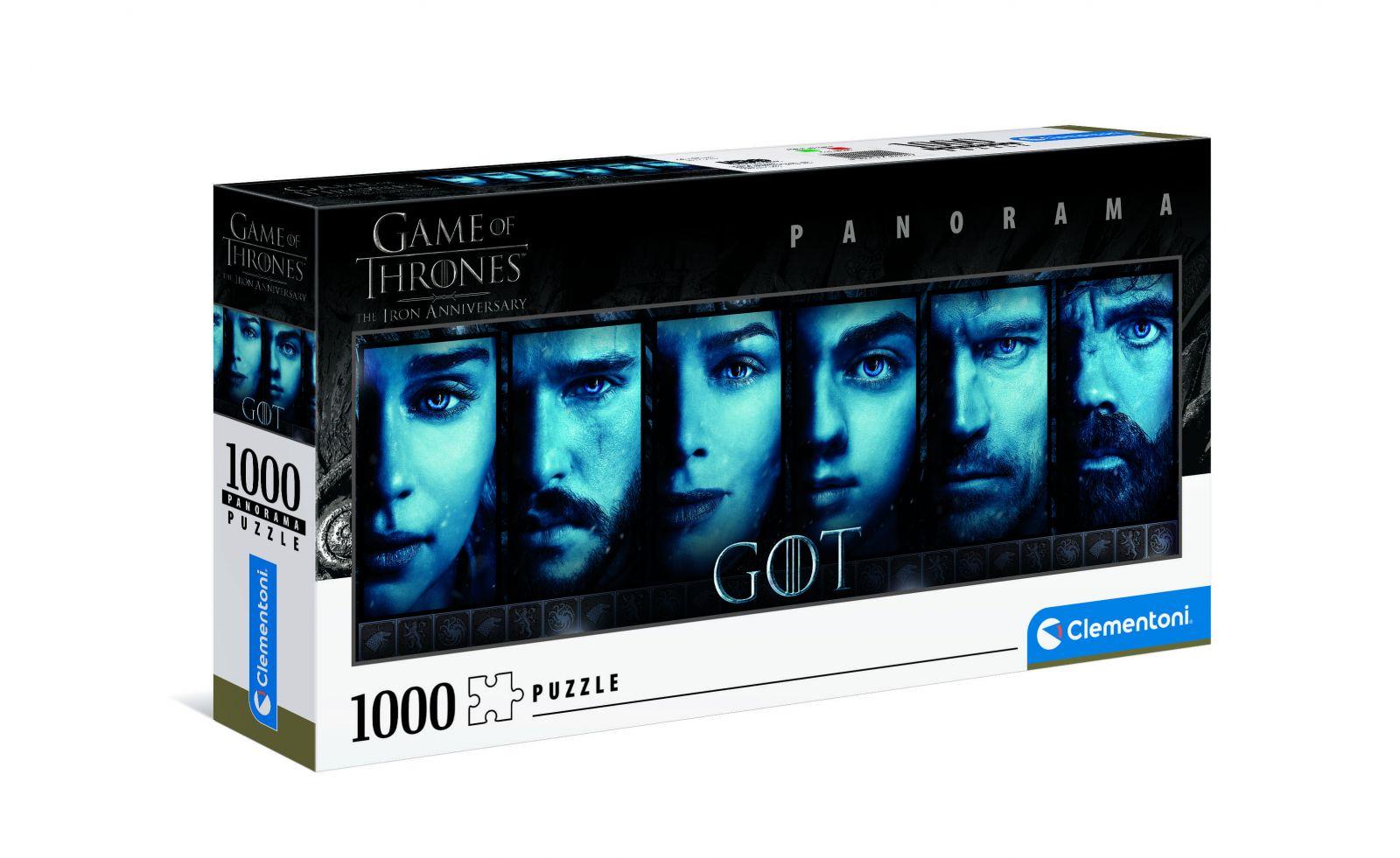 Puzzle Clementoni 1000 dílků panorama - Hra o trůny 39590