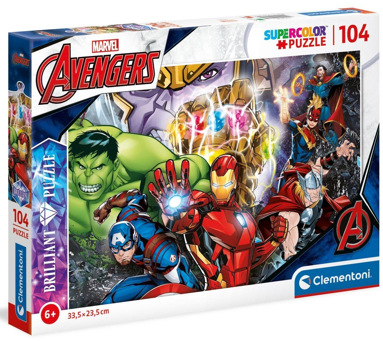 Puzzle Clementoni - 104 dílků Briliant - Avengers 20181
