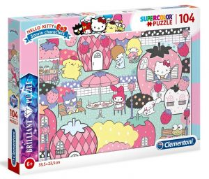 Puzzle Clementoni  - 104 dílků  Briliant  - Hello Kitty  20172