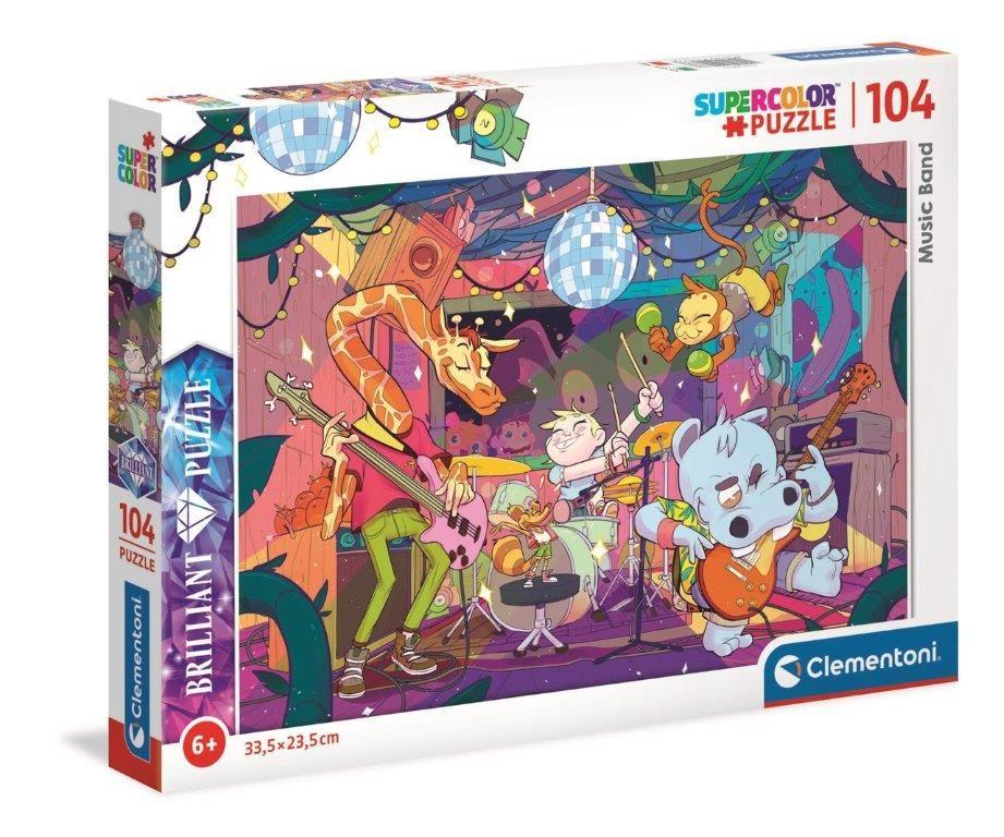 Puzzle Clementoni - 104 dílků Briliant - Music Band 20177