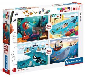 Puzzle Clementoni 2 x 20  a  2 x 60 dílků -  Podmořský svět  21308