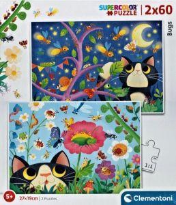 Puzzle Clementoni 2 x 60  dílků  - Bugs 21618