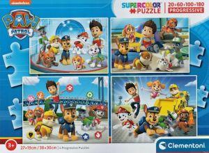 Puzzle Clementoni  - 20, 60, 100 a 180 dílků  - Tlapková patrola  21412