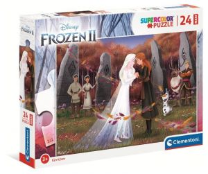 Puzzle Clementoni   24 dílků Maxi - Frozen II  24217