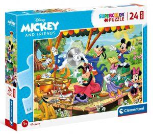 Puzzle Clementoni   24 dílků Maxi - Mickey a kamarádi  24218