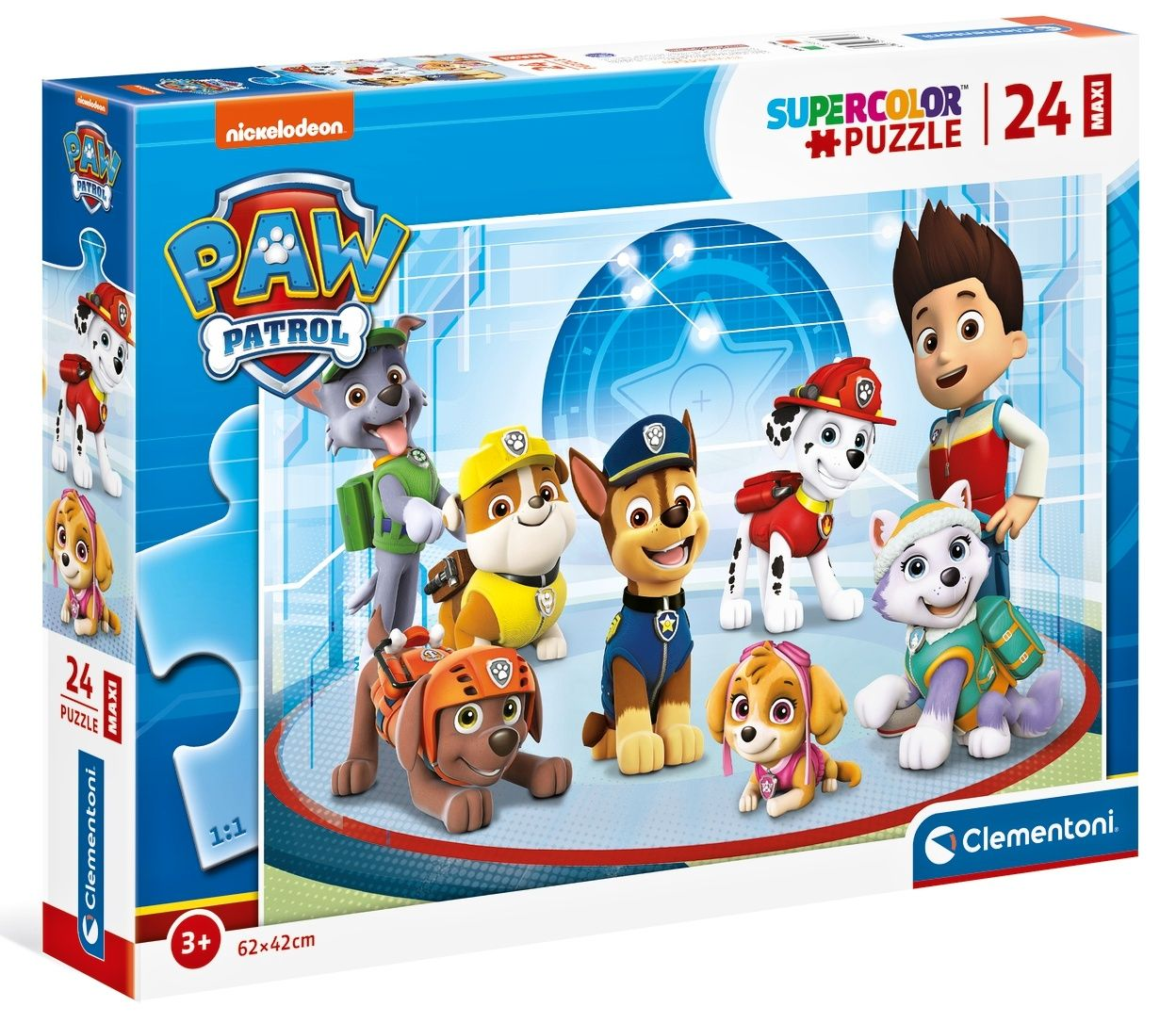 Puzzle Clementoni 24 dílků Maxi - Paw Patrol - Tlapková patrola 24211