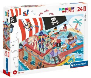 Puzzle Clementoni   24 dílků Maxi - Piráti  24209