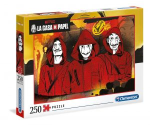 Puzzle Clementoni 250 dílků  - Netflix - Papírový dům   29104