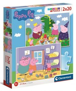 Puzzle Clementoni  2x20 dílků  -  Prasátko Peppa 24778