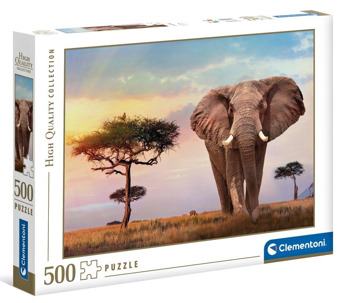 Puzzle Clementoni 500 dílků - Slon 35096