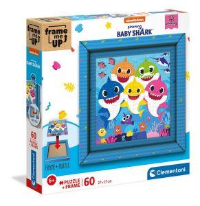 Puzzle Clementoni 60 dílků FRAME - Baby Shark 38807