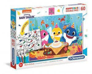 Puzzle Clementoni  60 dílků  HappyColor - Baby Shark 26095