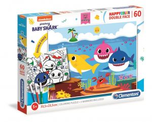 Puzzle Clementoni  60 dílků  HappyColor - Baby Shark 26093