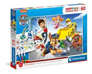 Puzzle Clementoni  60 dílků  HappyColor - Tlapková patrola  26097