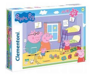 Puzzle Clementoni 60 dílků MAXI   -  Prasátko Peppa  26438