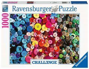 Puzzle Ravensburger 1000 dílků - Barevné knoflíky 165636
