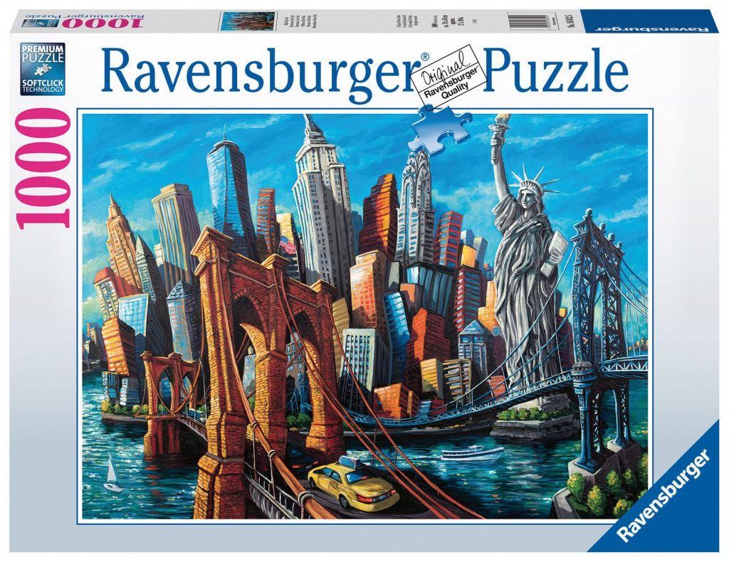Puzzle Ravensburger 1000 dílků - Welcome New York 168125
