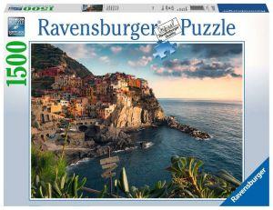 puzzle Ravensburger 1500 dílků  -  Pohled na Cinque Terre  162277