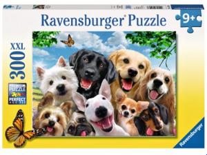 puzzle Ravensburger  300 dílků XXL - Šťastní pejsci 132228