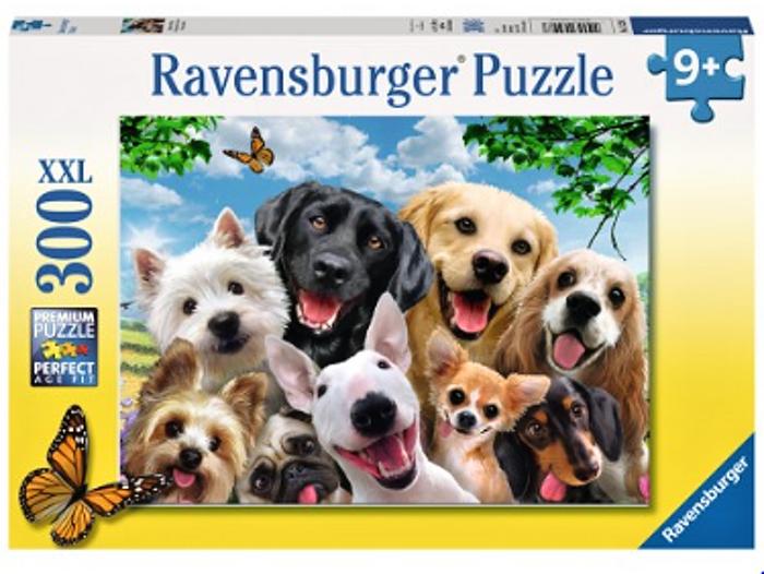 puzzle Ravensburger 300 dílků XXL - Šťastní pejsci 132287
