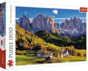 Puzzle Trefl 1500 dílků -  Dolomity - Val Di Funes  26163